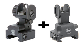A2 BUIS With Flip Up Front Sight For Forearms