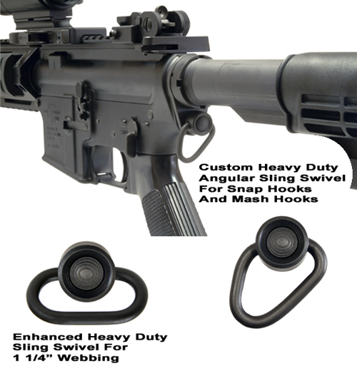 AR-15 QD Receiver End Plate With Enhanced QD Sling Swivel