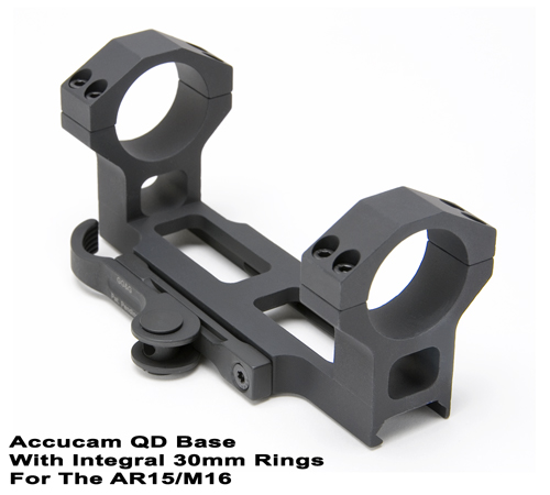 Quick Detach Scope Mounting Base With Integral 30mm Scope Rings