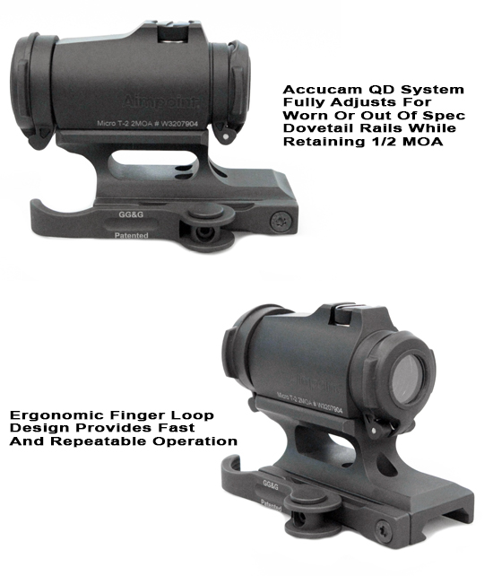 Aimpoint Qd Quick Detach T 2 And H2 Mountaimpoint T 2 Qds Mount