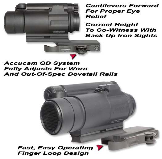 Aimpoint compm4 mounting base aimpoint comp m4 qd cantilever scope