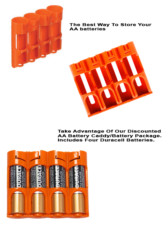 Four Pack AA Battery Caddy Discounted Package