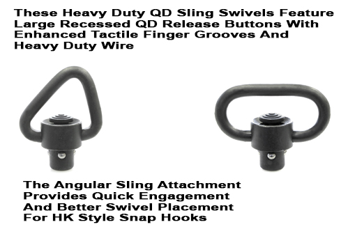 Heavy Duty Enhanced Quick Detach Sling Swivels