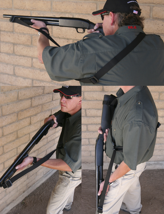 Mossberg 590 Sling Fixed Stock, Tri-Glide Front Sling