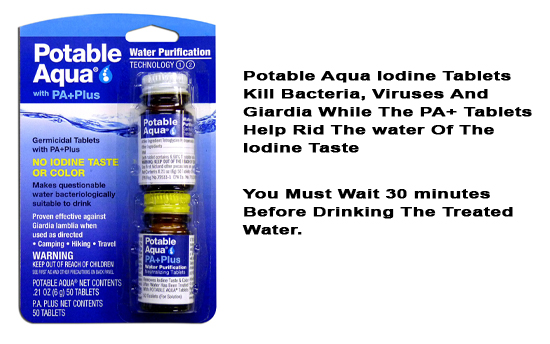Potable Aqua Iodine Water Treatment Tablets Save Save and close      General     Images     SEO     Options     Shipping Properties     Quantity discounts     Subscribers     Add-ons     Features     Product tabs     Tags     Attachments     Reward points     Required products     Layouts  Information Name