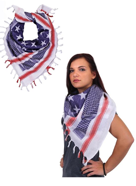 American Flag Shemagh, Desert Scarf