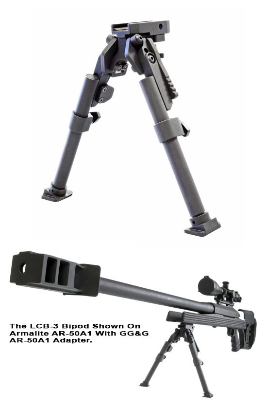 LCB-3 Heavy Duty Tactical Bipod (Large Caliber Bipod)