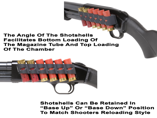 Mossberg 590 Side Saddle and 500 Side Saddle Shell Holder 6 Shot