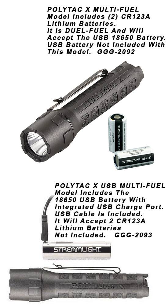 Streamlight PolyTac X LED Flashlight