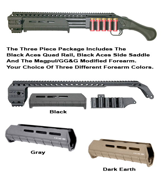 Black Aces Shockwave Quad Rail With Modified Magpul