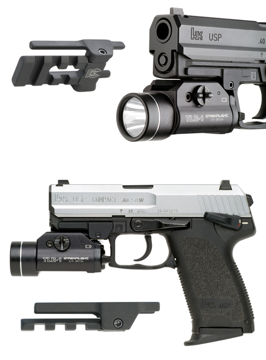 HK USP Picatinny Rail Flashlight Mounts