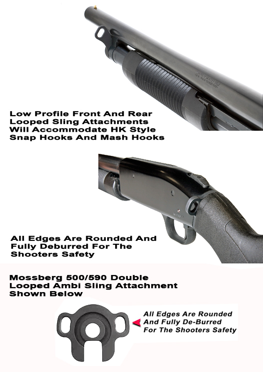 Mossberg 500 Front & Rear Looped Sling Attachments