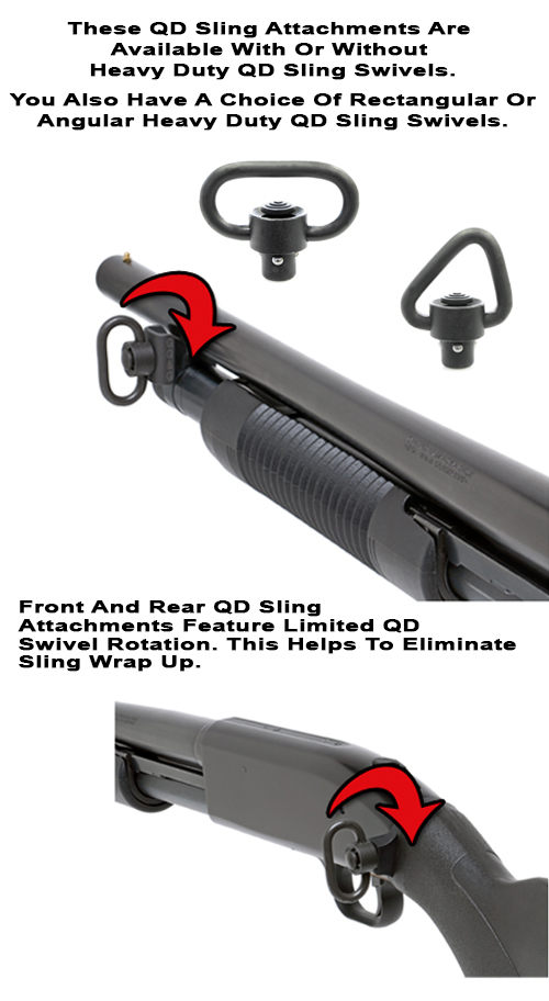 Mossberg 500 Quick Detach Front And Rear Sling Attachments