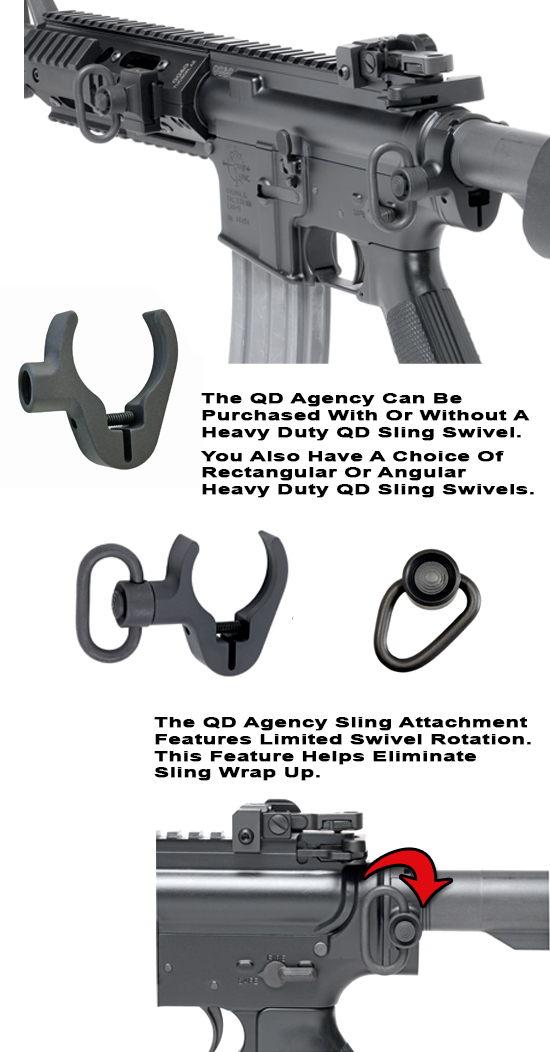 Quick Detach Agency Rear Sling Attachment