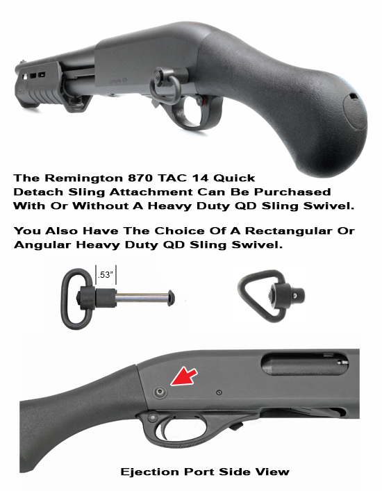 Remington 870 TAC 14 QD Rear Sling Attachment