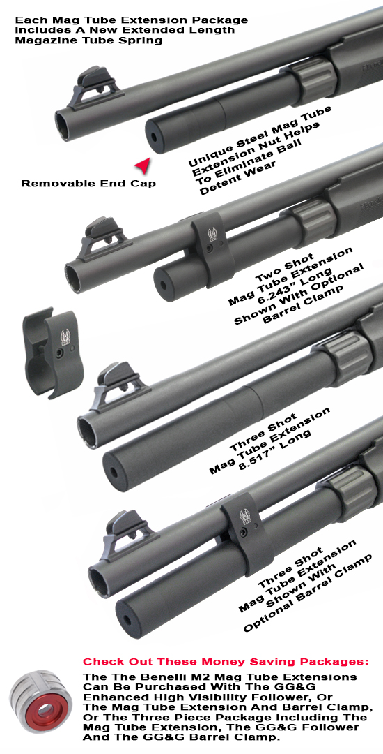 Benelli M2 Magazine Tube Extensions