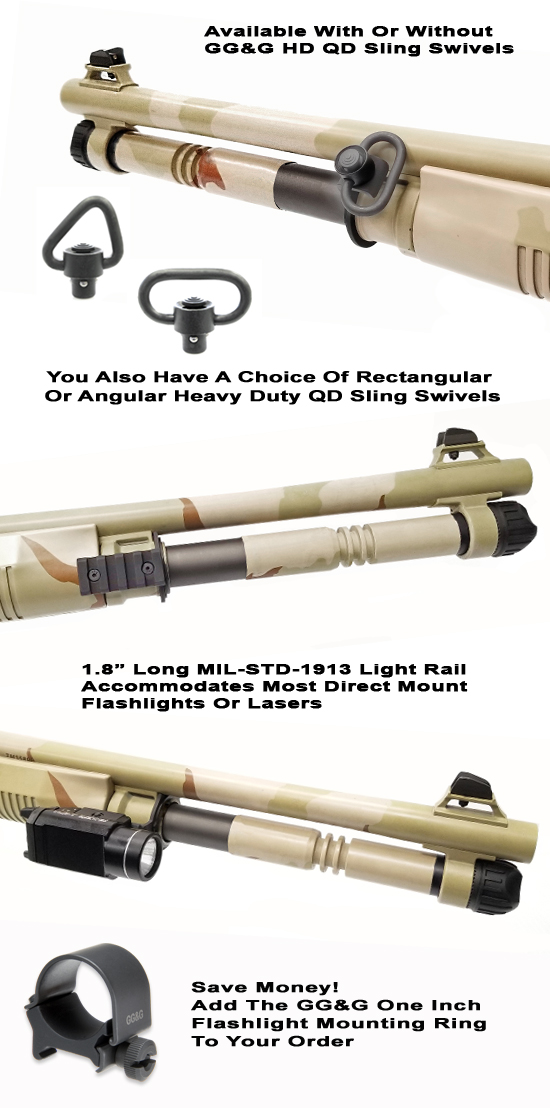 Benelli M4 Quick Detach Sling And Flashlight Mount