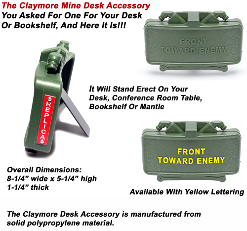 Claymore Mine Desk Accessory