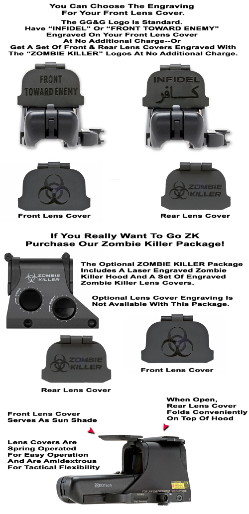 EOTech Scope Lens Covers For The 511, 512, 551 And 552