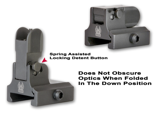 Flip Up Front Sight For AR-10 Dovetailed Gas Blocks