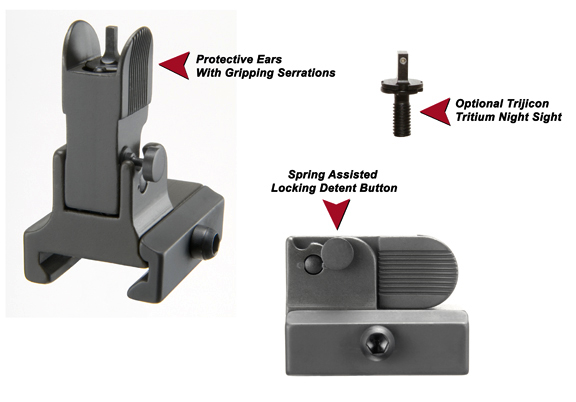 Flip Up Front Sight For AR Dovetailed Gas Blocks