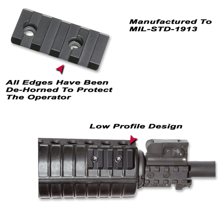 MIL-STD-1913 Forearm Mounting Rail For Tactical Flashlights