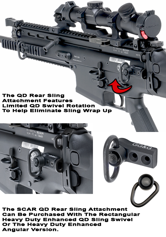 SCAR Quick Detach Rear Sling Attachment