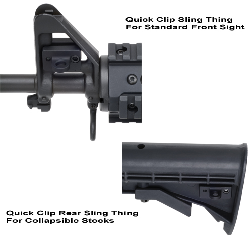 Sling Things For Quick Clips, Front And Rear