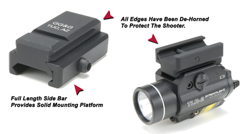 Tactical Flashlight <br/>Rail Adapter For Dovetails