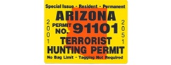 Arizona Terrorist <br/>Hunting Permit--Five Pack