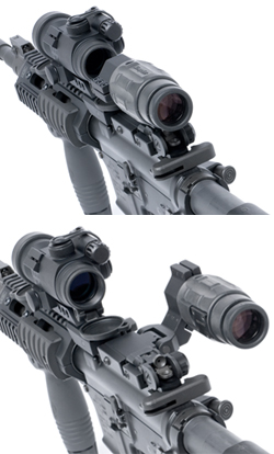 Aimpoint 3X Mag With GG&G Flip To Side Mount