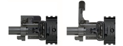 AR Bolt On Flip Up Front Sight<br/> Gas Block System