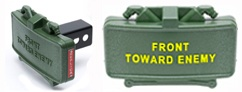 Claymore Mine <br/>Trailer Hitch Cover <br/> Available With Yellow Letters