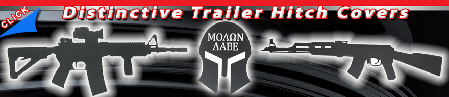 AK-47 Trailer Hitch Cover