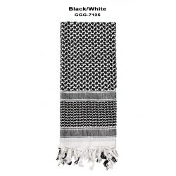 Shemagh Tactical Desert Scarf - Black/White