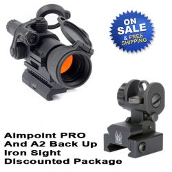 Aimpoint PRO Patrol Rifle Optic With A2 Back Up Sight Sale
