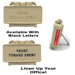 Tan Claymore Mine Desk Accessory