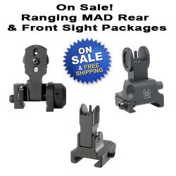 AR MAD With Ranging Aperture Front And Rear Sight Packages