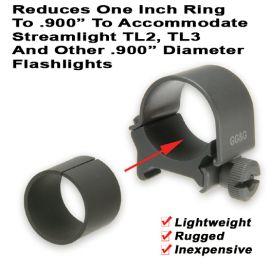 ".900"" Flashlight Mounting Ring Reducer"