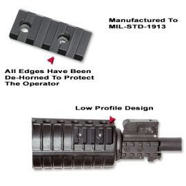 AR-15 Forearm Flashlight Mounting Rail