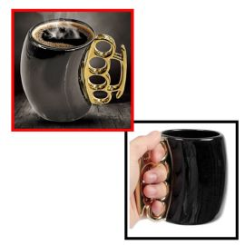Brass Knuckle Handle Coffee Mug
