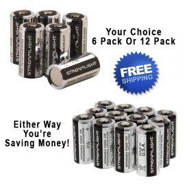 Streamlight 3V CR123 Lithium Batteries