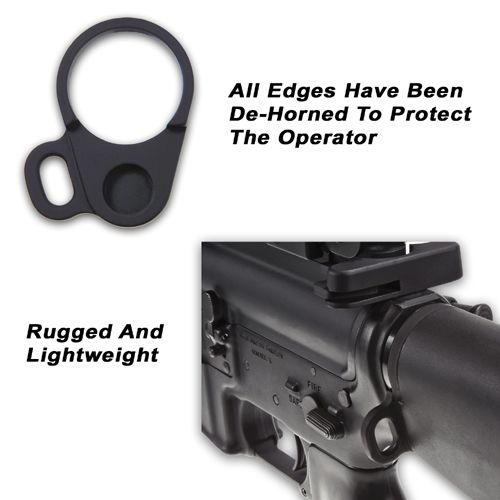Looped Receiver End Plate Sling Adapter For Fixed Stocks
