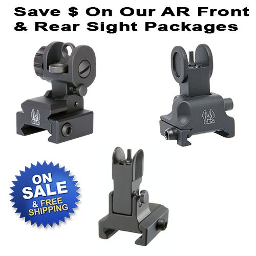 AR Front And Rear Sight Packages Manually Deployed
