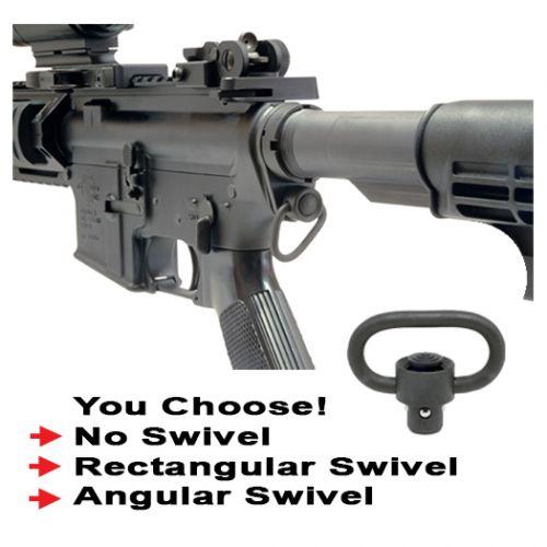 AR-15 QD Receiver End Plate With Enhanced QD Sling Swivel