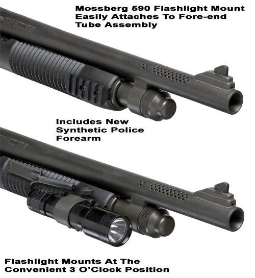 Mossberg 500/590 Forearm Flashlight Mount